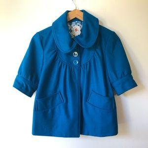 Tulle Retro Short Sleeve Turquoise Jacket size S